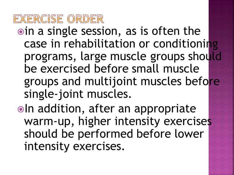 Exercise Order