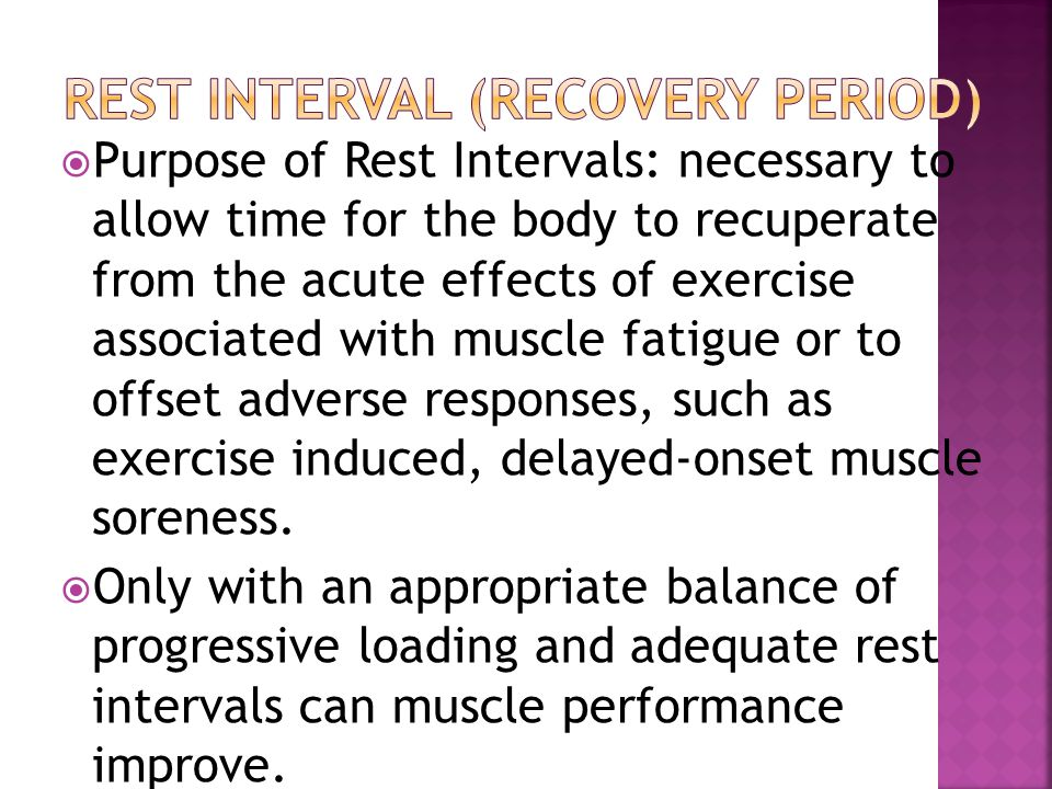 Rest Interval (Recovery Period)