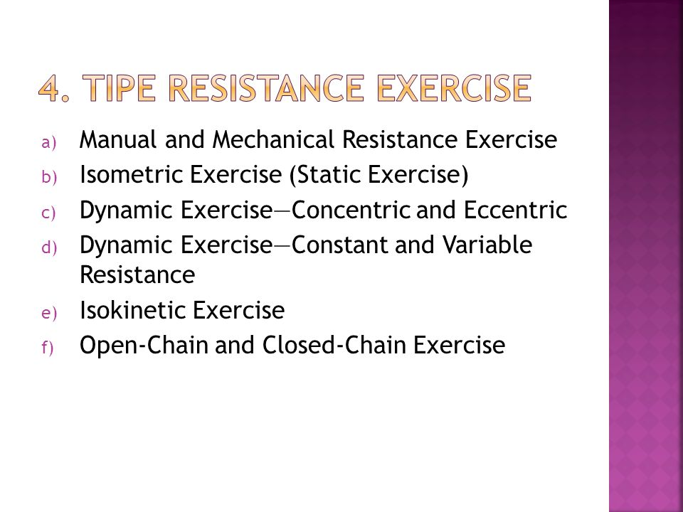 4. TIPE RESISTANCE EXERCISE