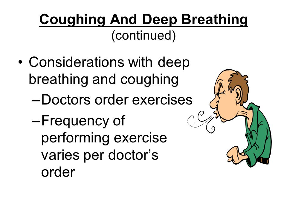 Coughing And Deep Breathing (continued)