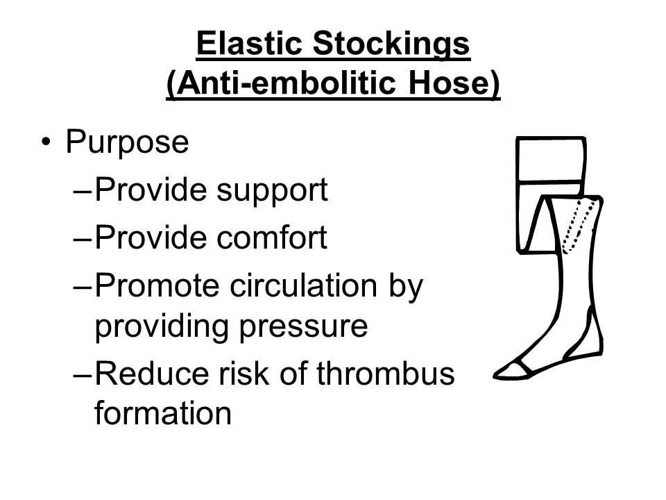 Elastic Stockings (Anti-embolitic Hose)