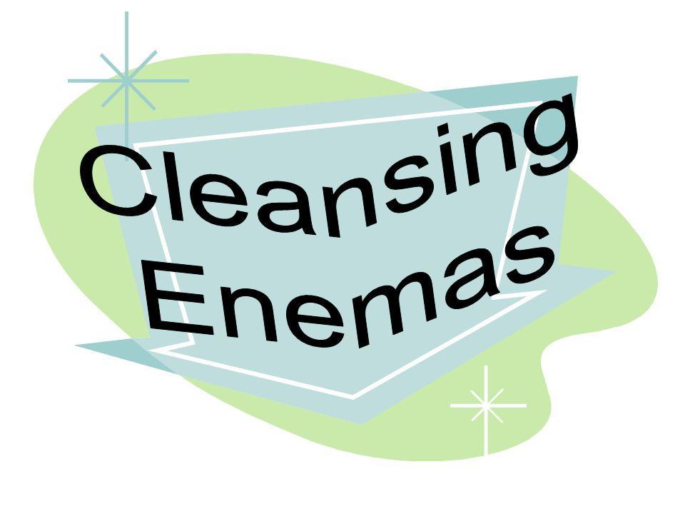 Cleansing Enemas