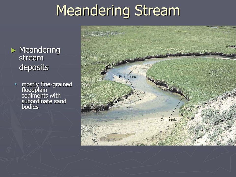 Meandering Stream Meandering stream deposits
