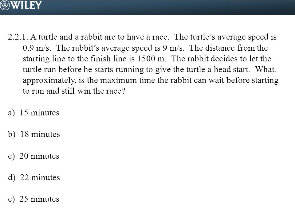 2. 2. 1. A turtle and a rabbit are to have a race