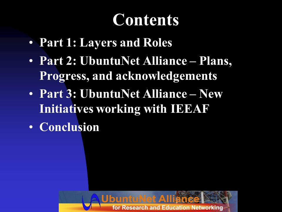 Contents Part 1: Layers and Roles