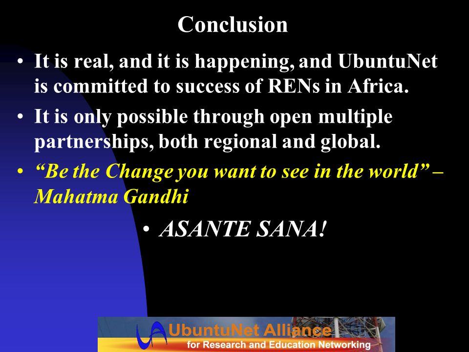 Conclusion ASANTE SANA!
