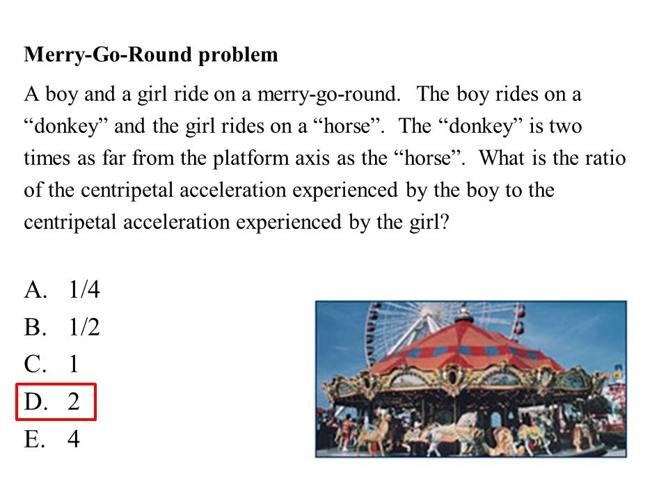 Merry-Go-Round problem