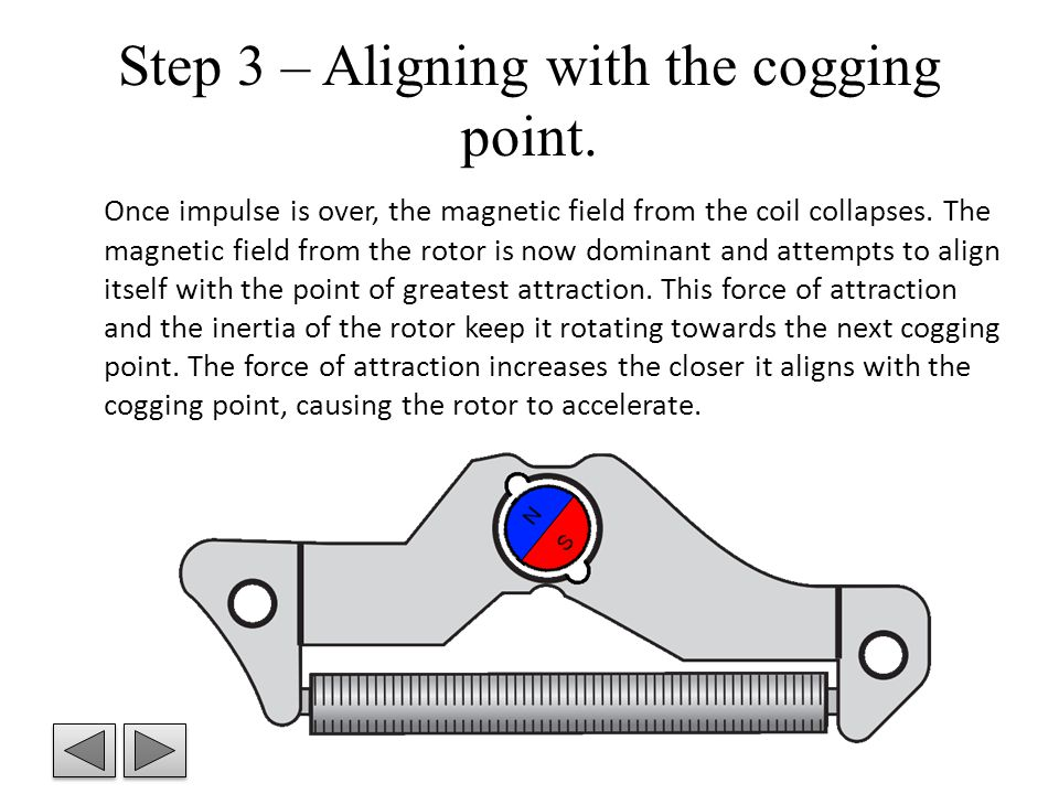 Step 3 – Aligning with the cogging point.