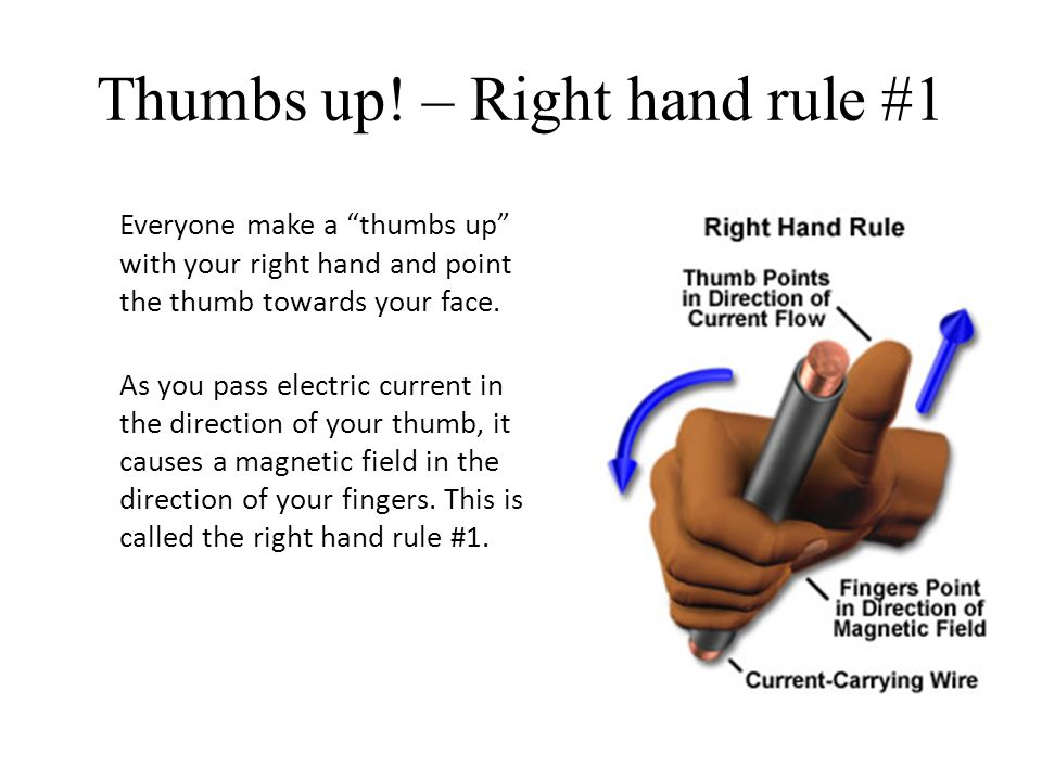 Thumbs up! – Right hand rule #1