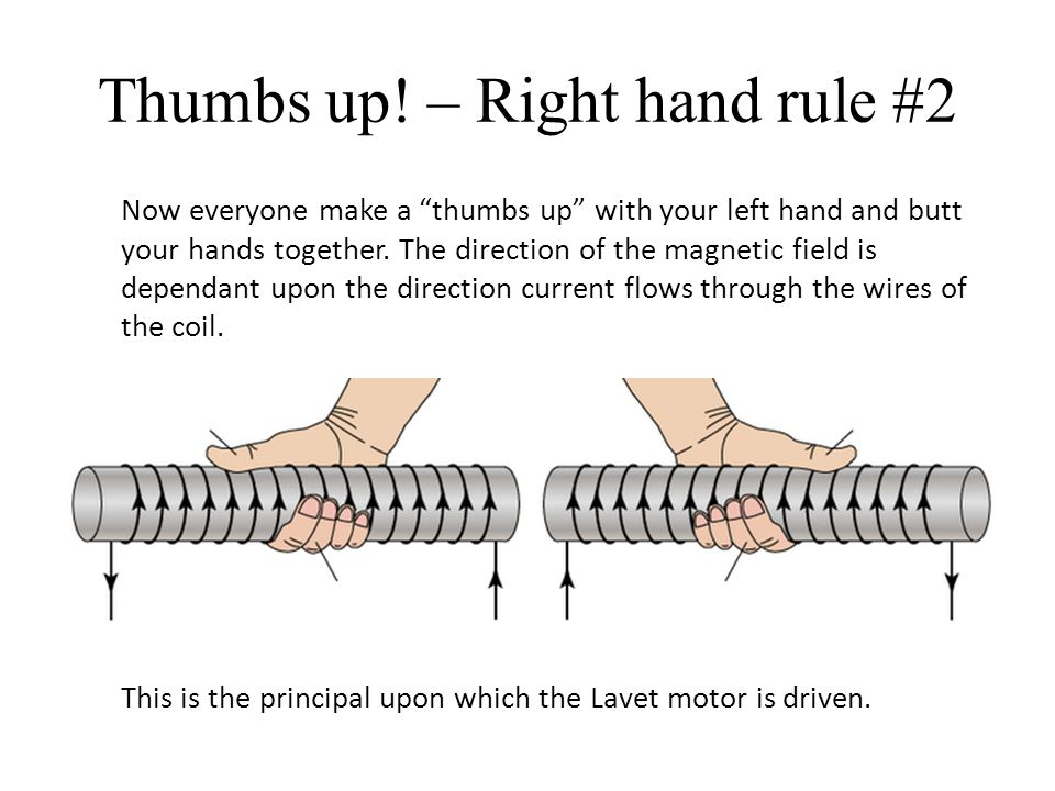 Thumbs up! – Right hand rule #2