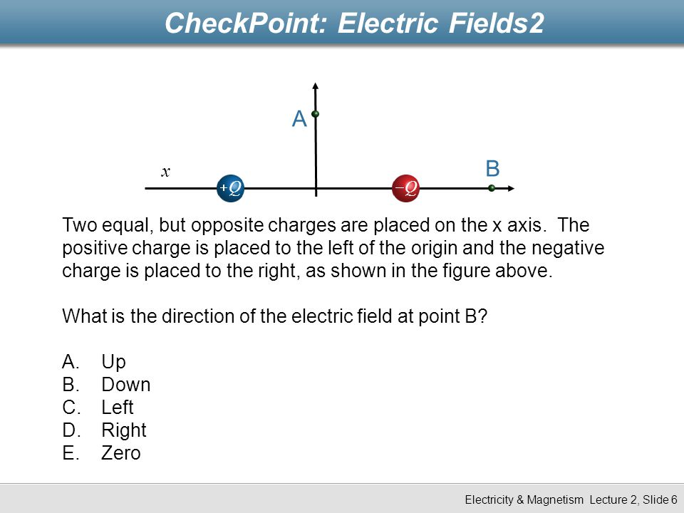 CheckPoint: Electric Fields2