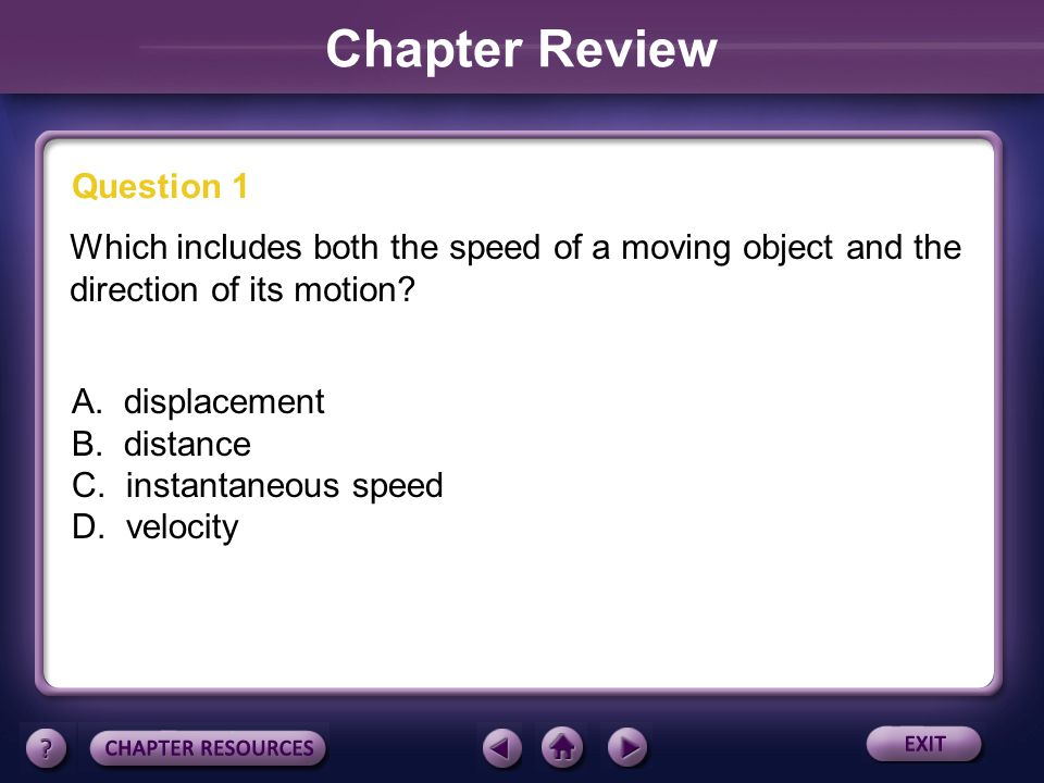 Chapter Review Question 1