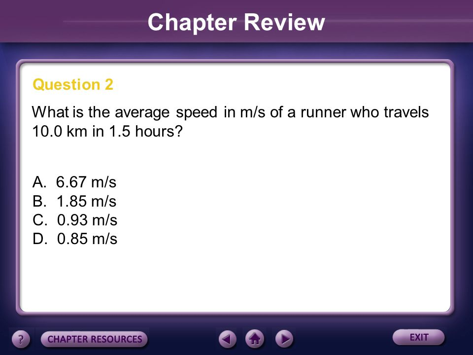 Chapter Review Question 2