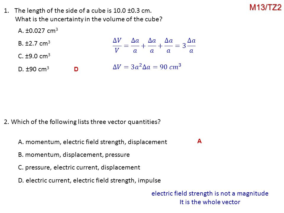 electric field strength is not a magnitude
