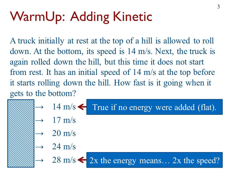 WarmUp: Adding Kinetic