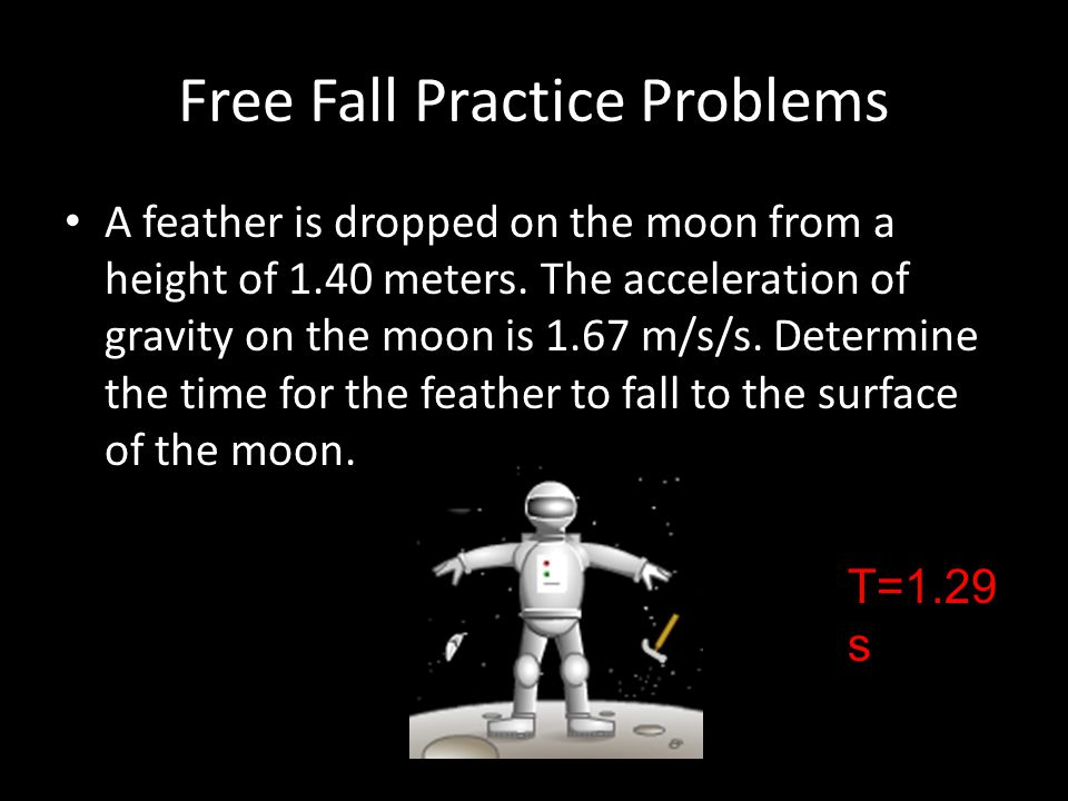 Free Fall Practice Problems