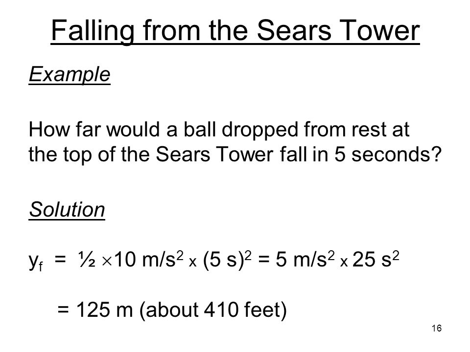 Falling from the Sears Tower