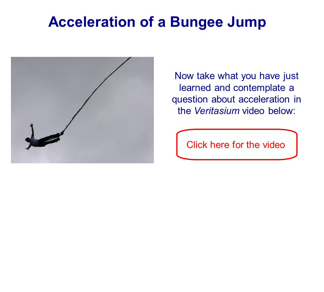 Acceleration of a Bungee Jump