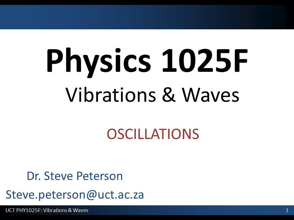 Physics 1025F Vibrations & Waves