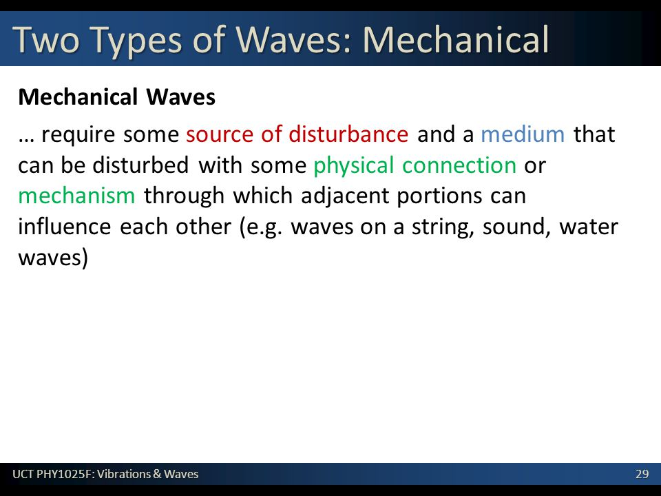 Two Types of Waves: Mechanical