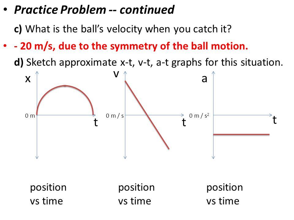 Practice Problem -- continued