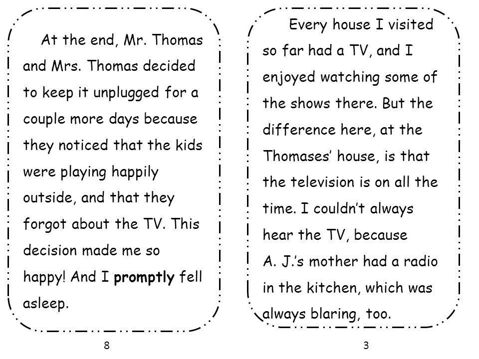 At the end, Mr. Thomas and Mrs
