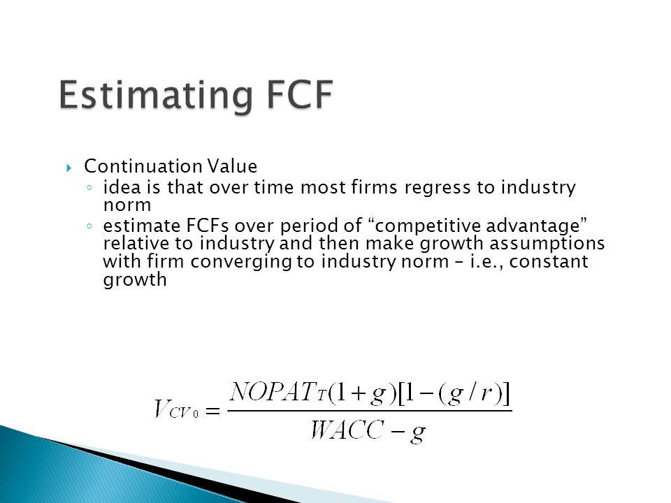 Estimating FCF Continuation Value