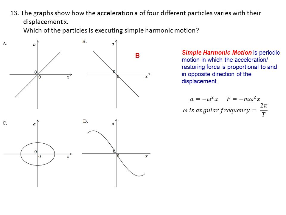 Which of the particles is executing simple harmonic motion