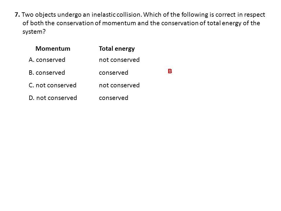 A. conserved not conserved B. conserved conserved