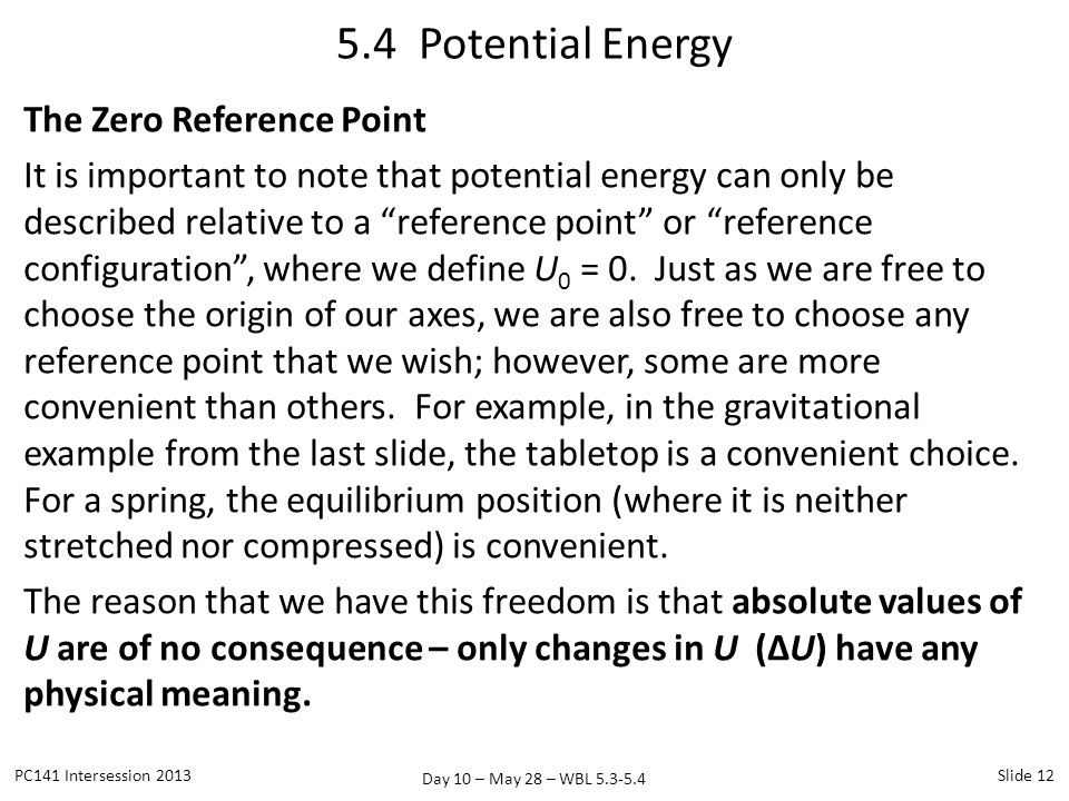 5.4 Potential Energy