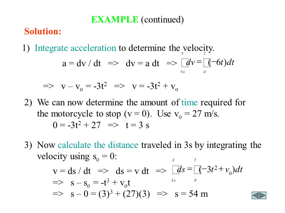 ò ò EXAMPLE (continued) Solution:
