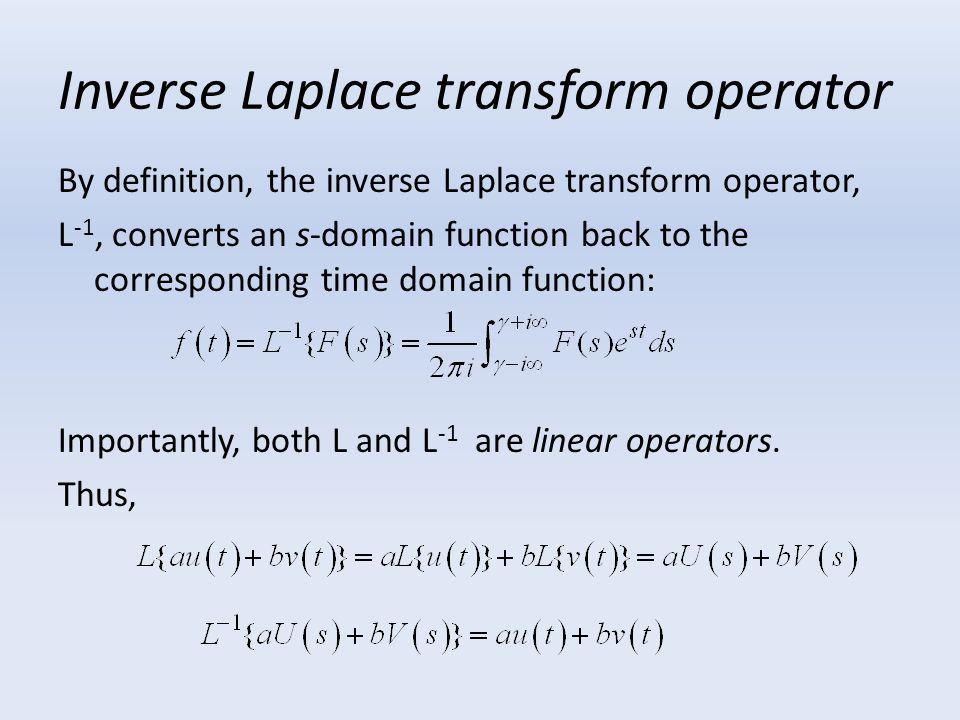 Inverse Laplace transform operator