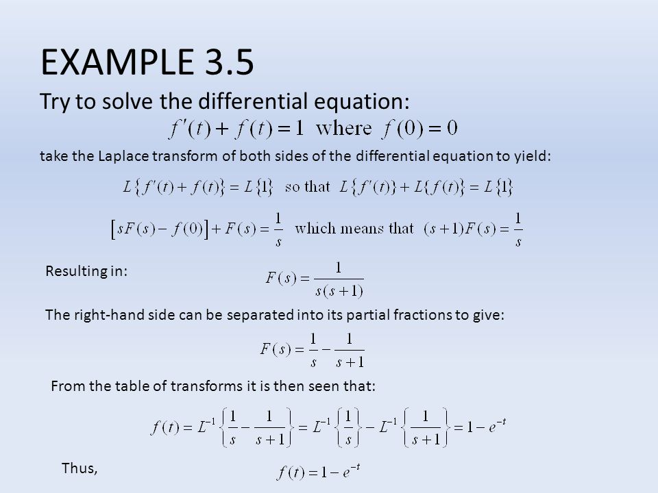 EXAMPLE 3.5 Try to solve the differential equation: