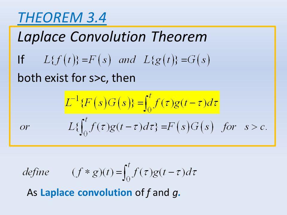 THEOREM 3.4 Laplace Convolution Theorem