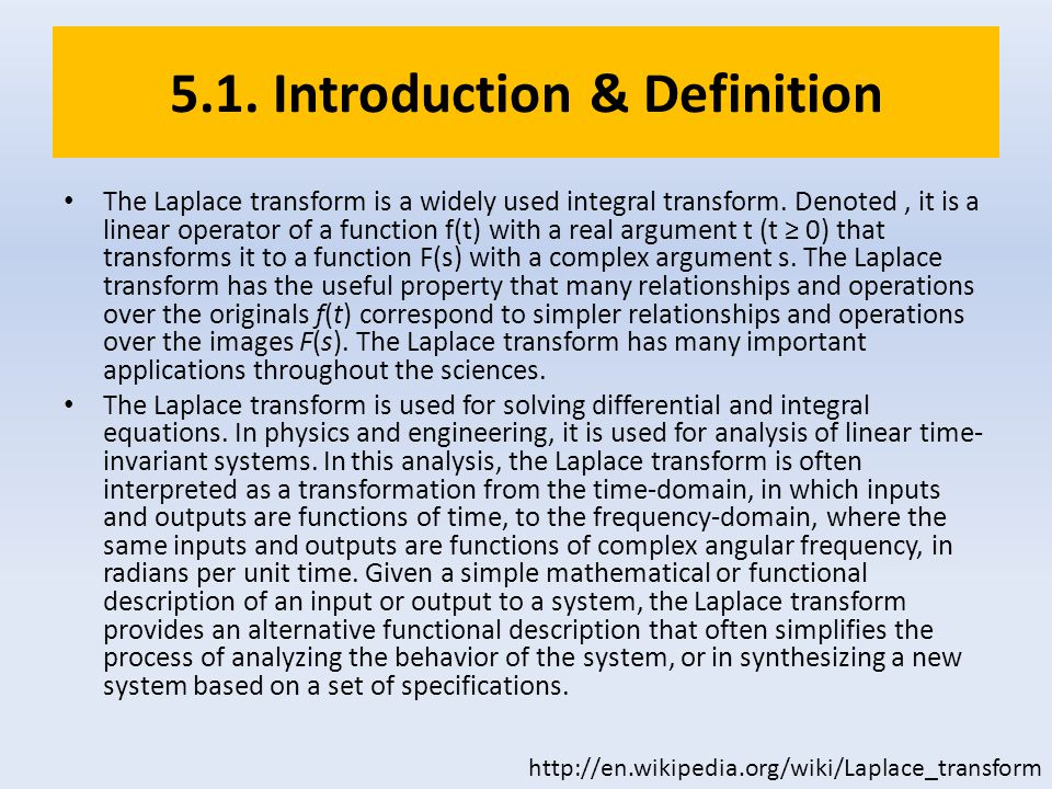 5.1. Introduction & Definition