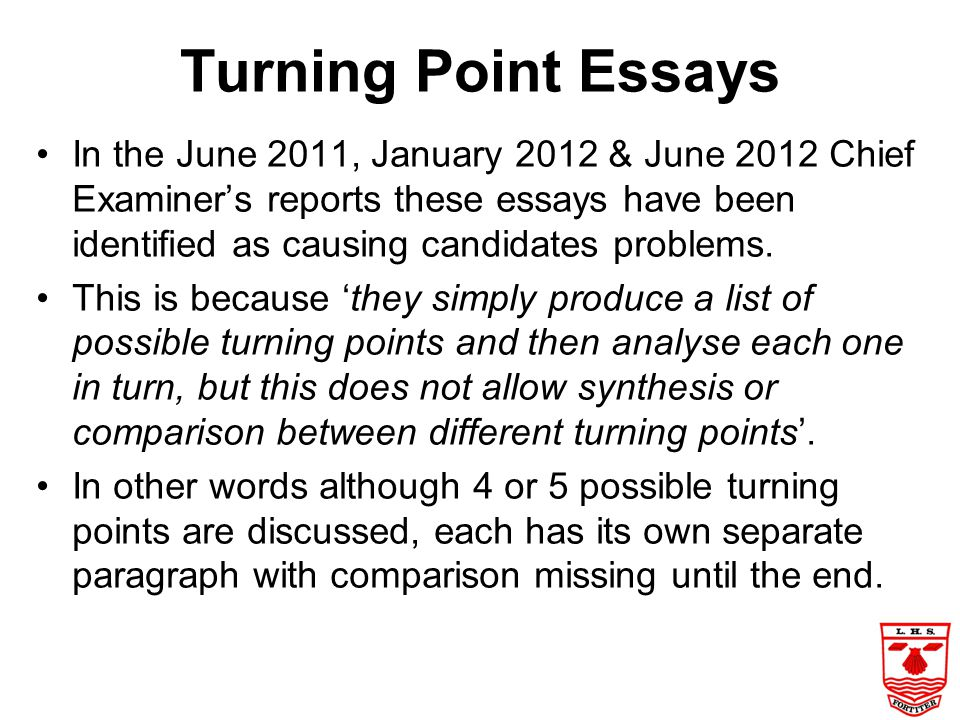 Turning Point Essays