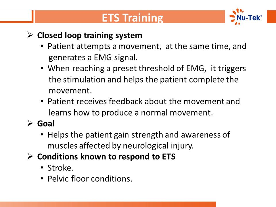 ETS Training Closed loop training system