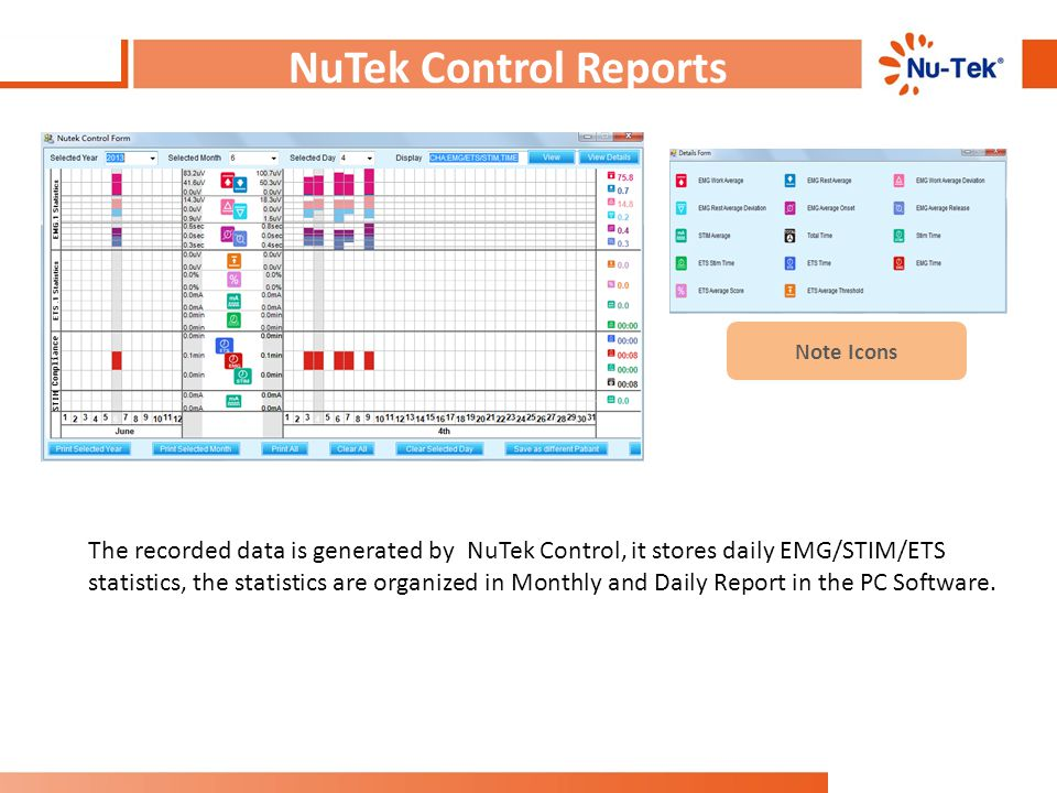 NuTek Control Reports Note Icons.