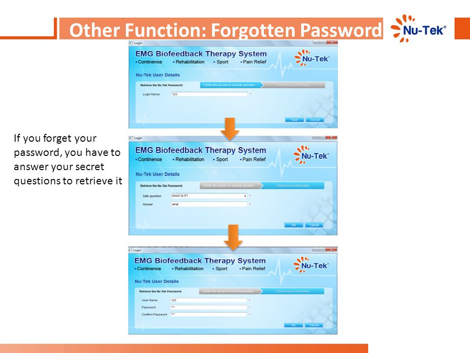 Other Function: Forgotten Password