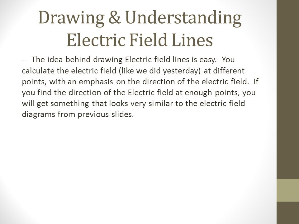 Drawing & Understanding Electric Field Lines