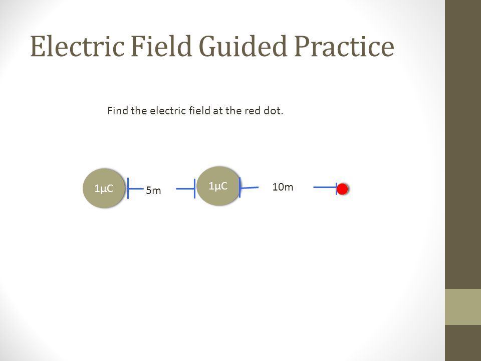 Electric Field Guided Practice