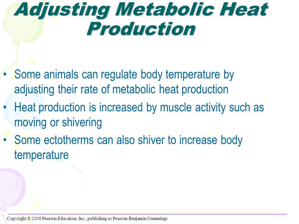 Adjusting Metabolic Heat Production