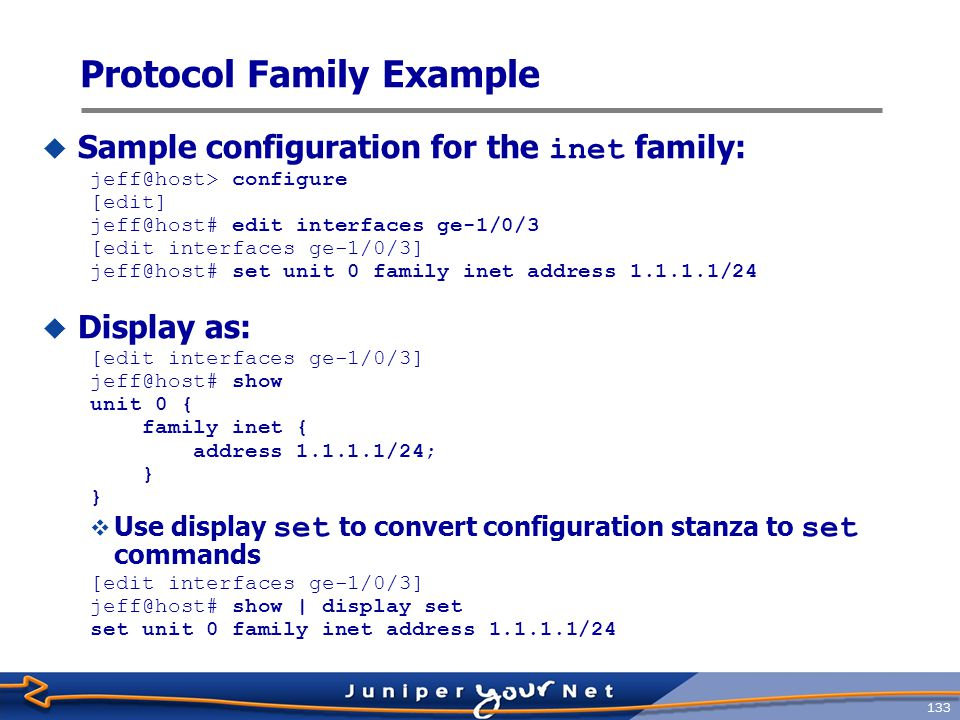 Protocol Family Example