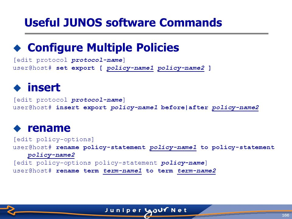 Useful JUNOS software Commands