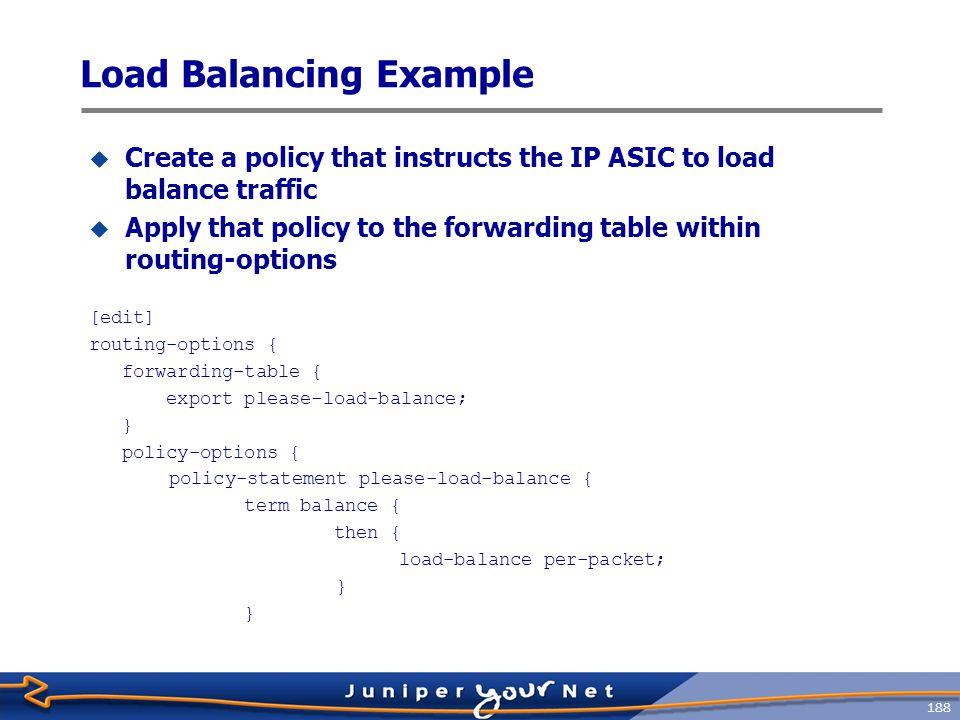 Load Balancing Example