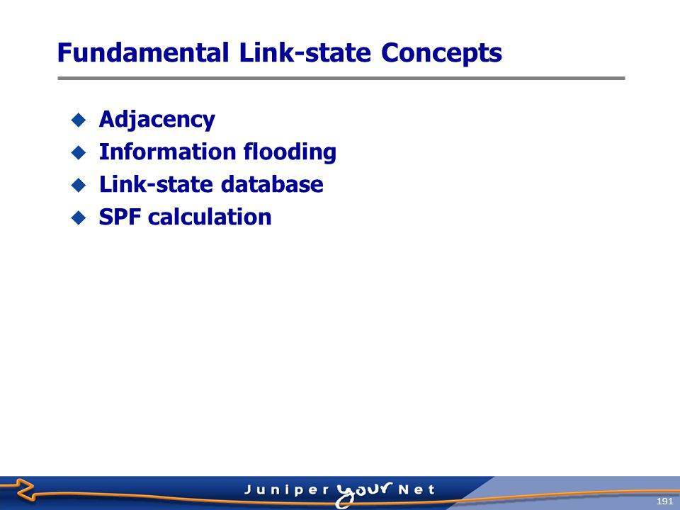 Fundamental Link-state Concepts