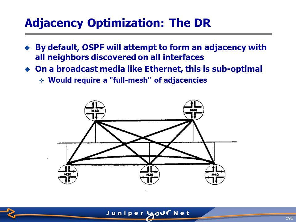 Adjacency Optimization: The DR