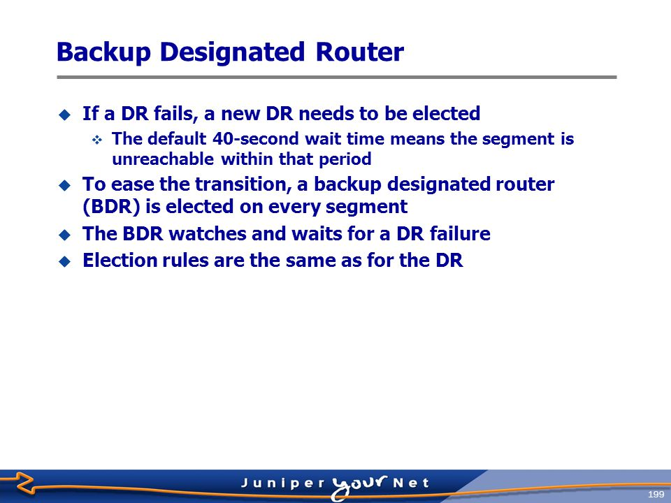 Backup Designated Router