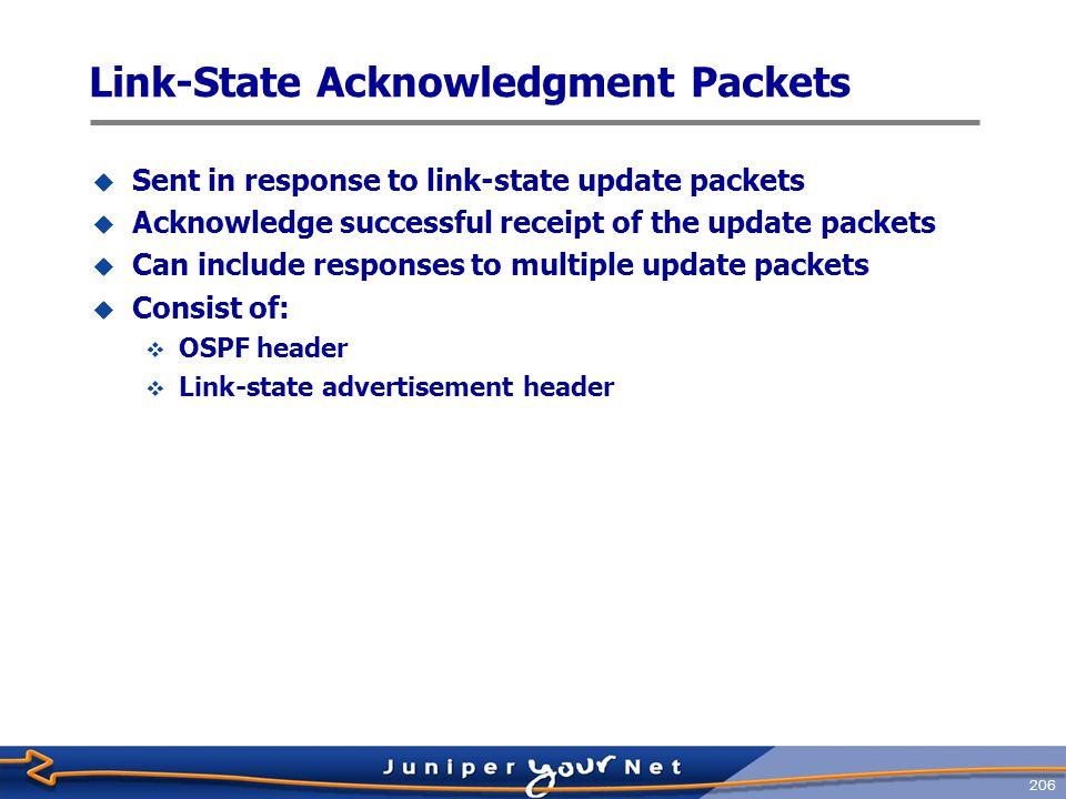 Link‑State Acknowledgment Packets