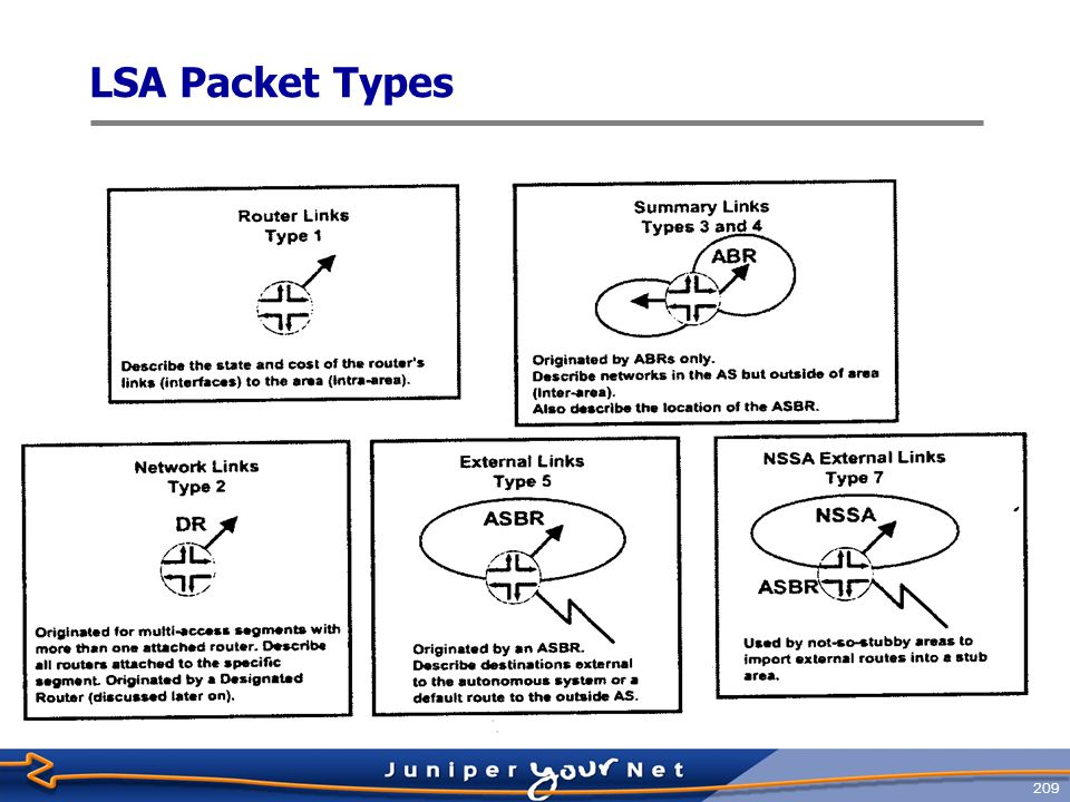 LSA Packet Types